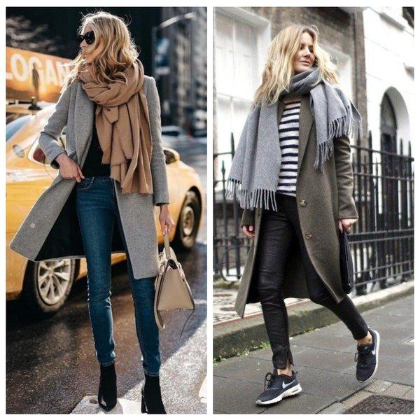 Как носить шарф модно: образы и тренды