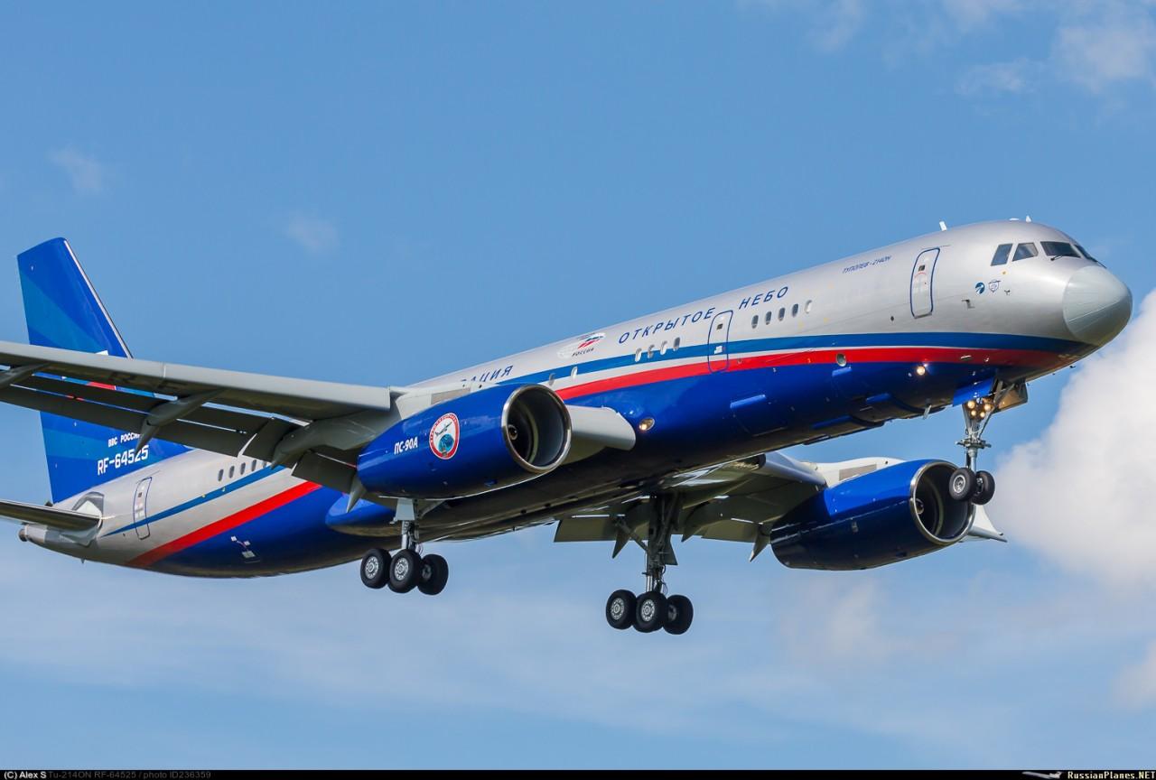 """Самолет наблюдения Ту-214ОН """"Открытое небо"""" прошел международную сертификацию"""