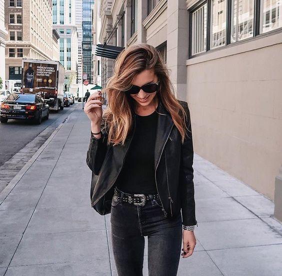 Куртка-косуха: 15 лучших идей в стиле минимализм