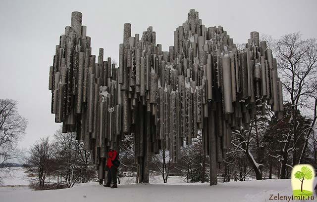 Поющий памятник Сибелиусу в Хельсинки, Финляндия - 12