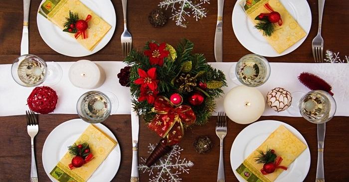 Как красиво оформить новогодний стол