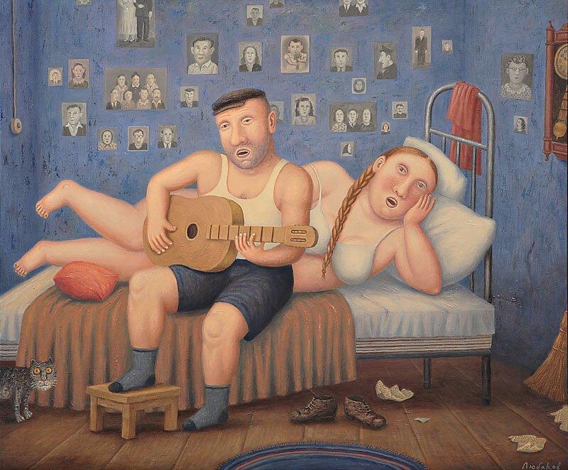 Семья Владимир Любаров, иллюстрация, люди, рисунок, художник
