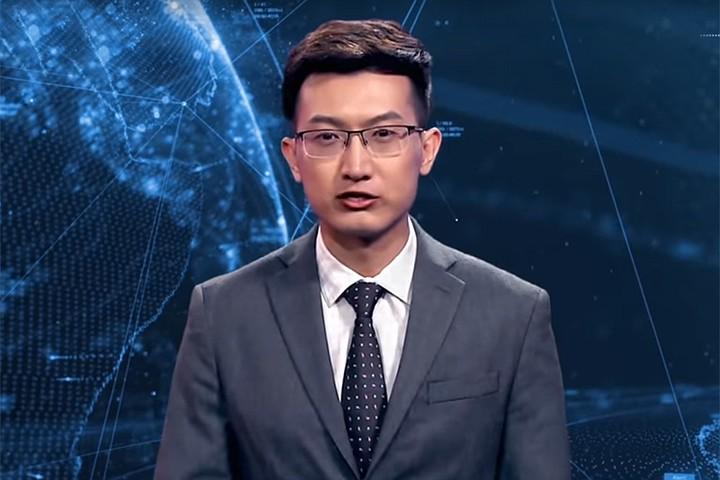 В Китае новости начал читать виртуальный диктор