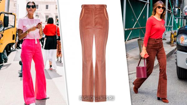 7 стильных образов с вельветовыми брюками, чтобы выглядеть по-королевски