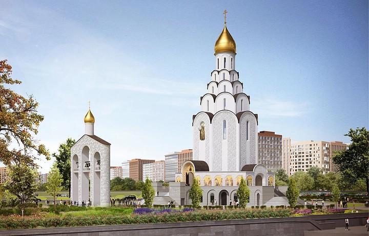 Состоялось освящение и поднятие Купола и Креста на основную главку часовни нового храма Святого равноапостольного князя Владимира