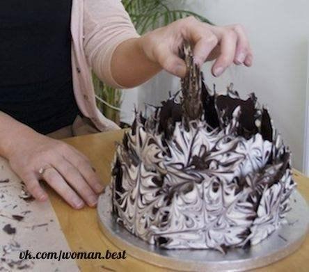 Шоколадный взрыв. Украшаем торт