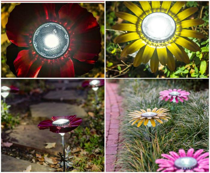Садовые светильники на солнечных батареях.
