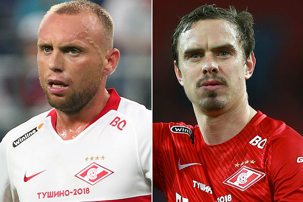 Глушакова и Ещенко отстранили от тренировок «Спартака»