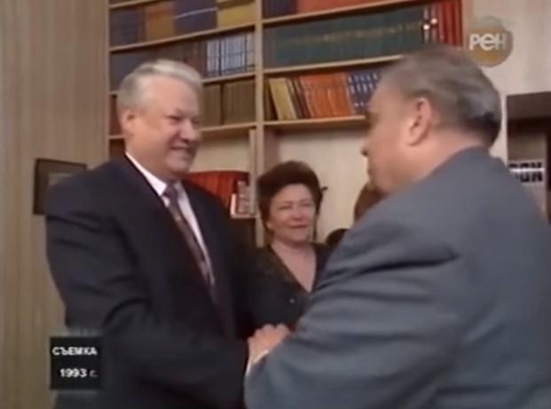 Рязанов в гостях у Ельцина. 1993 год (видео)