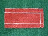 両端を縫い合わせた衿の写真