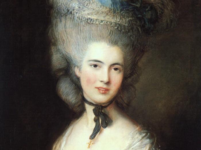 Томас Гейнсборо. Портрет дамы в голубом, конец 1770-х гг. Фрагмент
