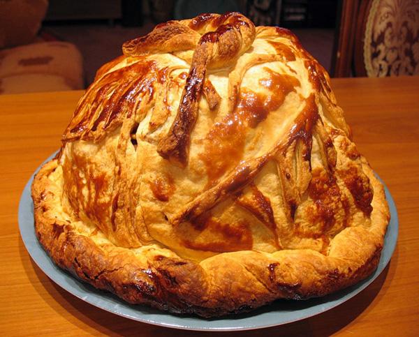 Курник – традиционный блинчатый пирог. Вариация 2