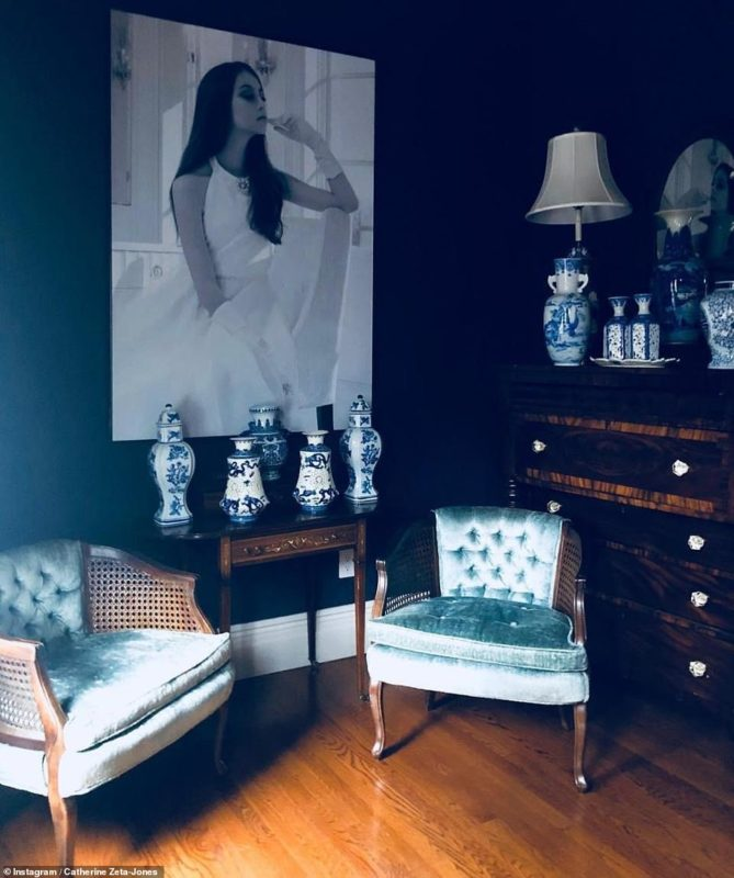 Интерьер дома Кэтрин Зеты-Джонс