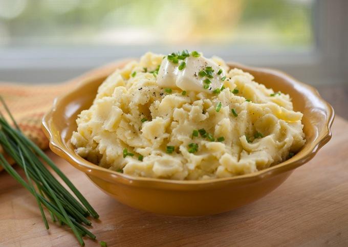 Картофельное пюре с чесноком