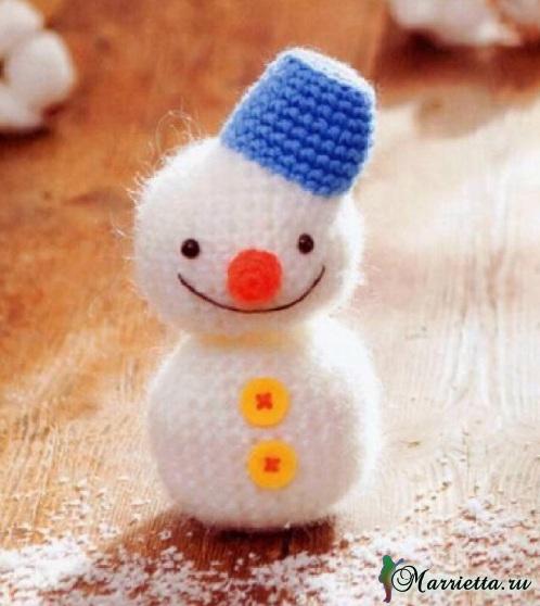 Снеговик крючком. Схемы вязания амигуруми (498x558, 196Kb)