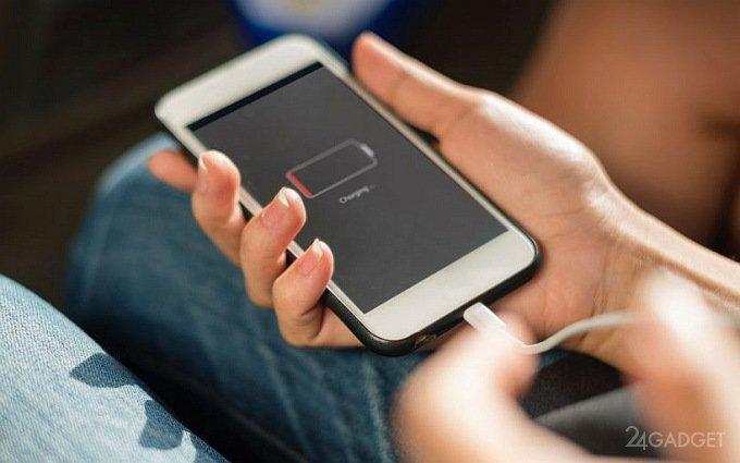 Обновлённый аккумулятор позволит смартфонам работать в 100 раз дольше