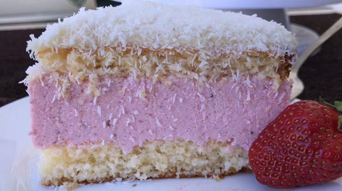 Самый вкусный клубнично-кокосовый торт