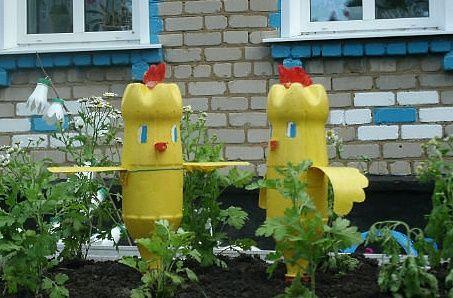 Цыпленок из бутылок своими руками