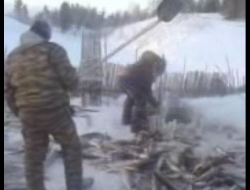 Рыбалка в глухой якутской деревне