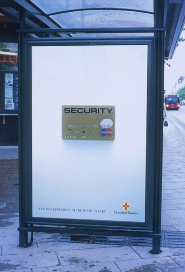 SECURITY, The Church Of Sweden, Paradiset DDB, Печатная реклама