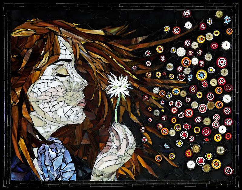 367 Невероятные мозаики из ключей, деталей часов и других механизмов