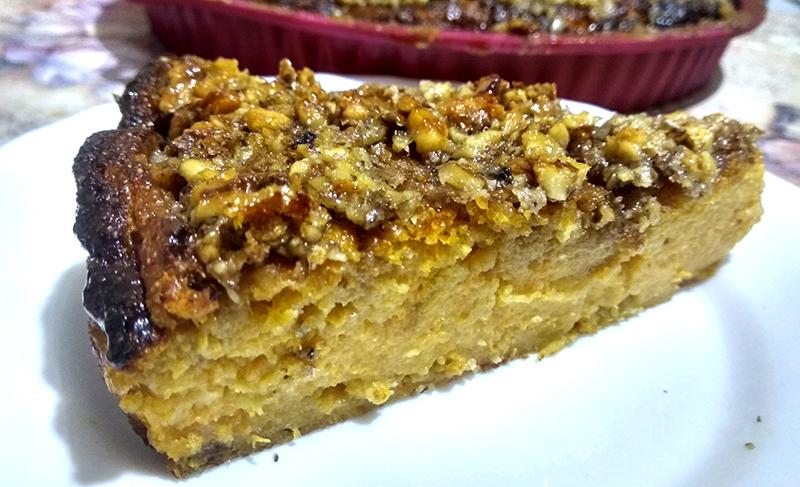 Рецепт запеканки из тыквы с творогом и орехами
