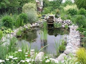 Искусственный пруд в ландшафтном дизайне на даче