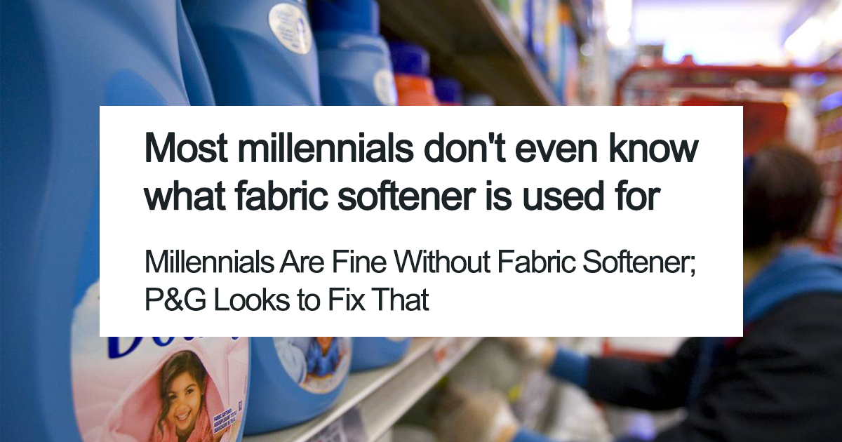 Millennials Get Blamed For Killing Fabric Softener Industry, And Their Epic Response Might Kill The Whole Laundry Industry