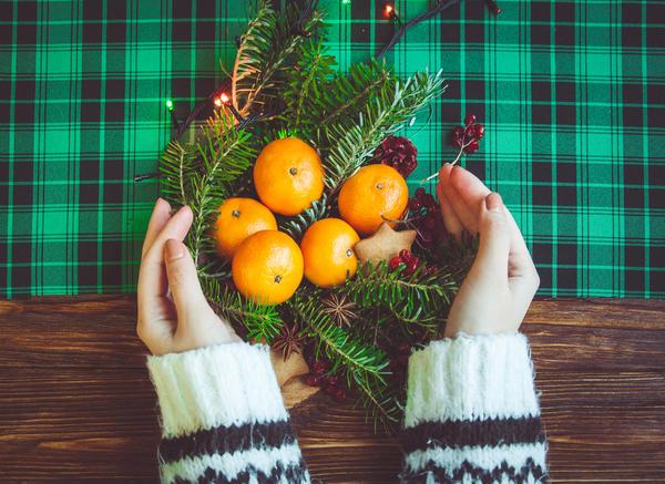 Апельсины + хвоя = новогоднее настроение