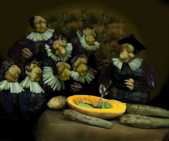 Всемирно известные композиции из овощей от Ju Duoqi