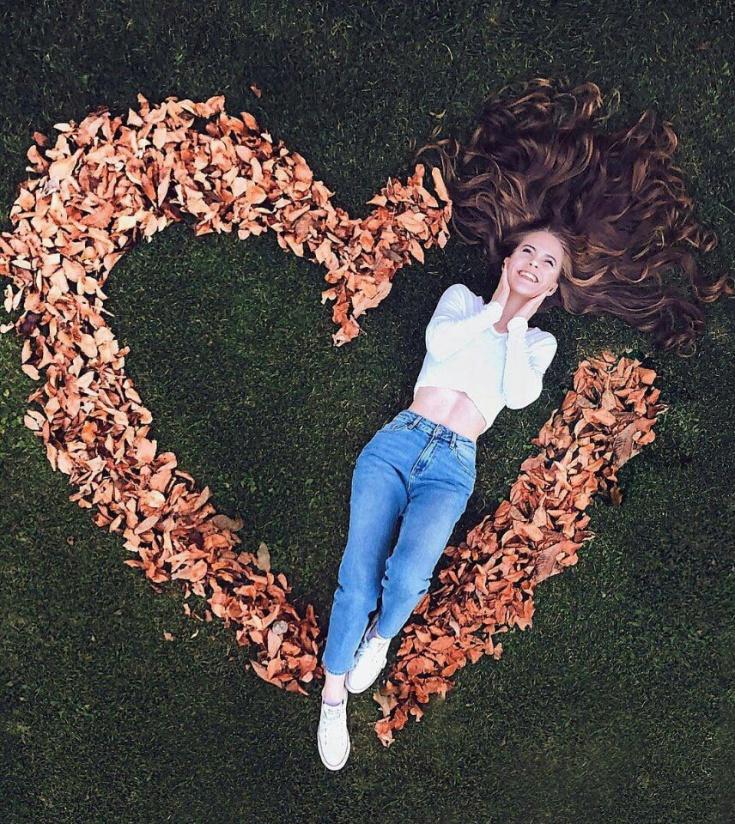 Красивая идея осеннего фото