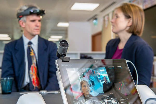 Modified HoloLens helps teach kids with vision impairment to navigate the social world
