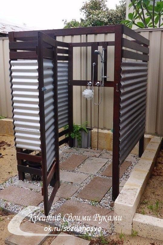 Летний душ на даче. Как вам идеи?