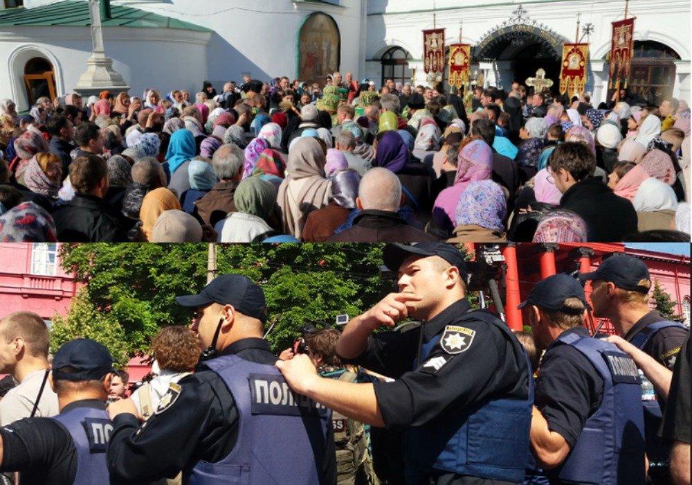 Начальник полиции подтвердил задержание около 100 человек у Киево-Печерской лавры