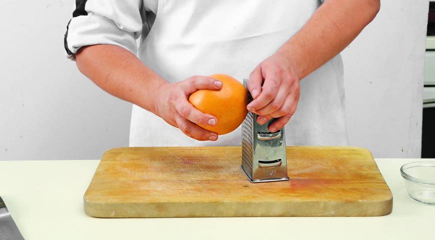 Салат из грейпфрутов с мятой. Шаг 1