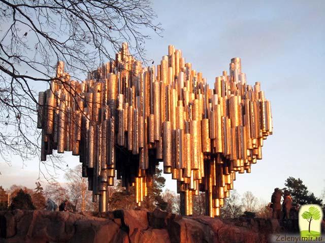 Поющий памятник Сибелиусу в Хельсинки, Финляндия - 4
