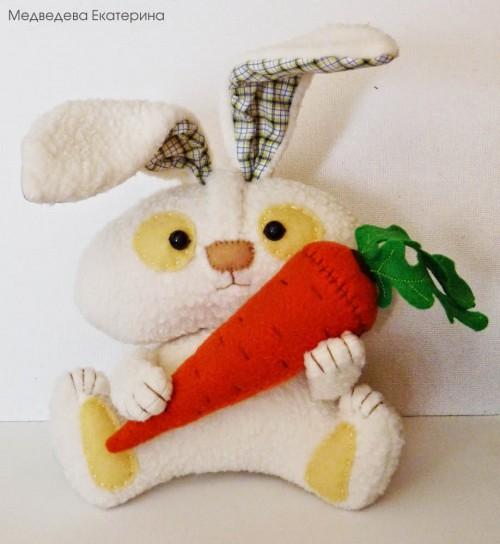 Как сшить зайчика игрушку своими руками видео