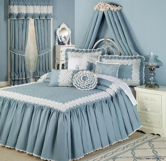 Текстиль в спальне. Шикарные идеи (40) (700x677, 397Kb)