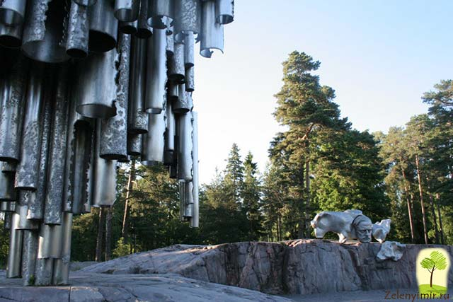Поющий памятник Сибелиусу в Хельсинки, Финляндия - 8
