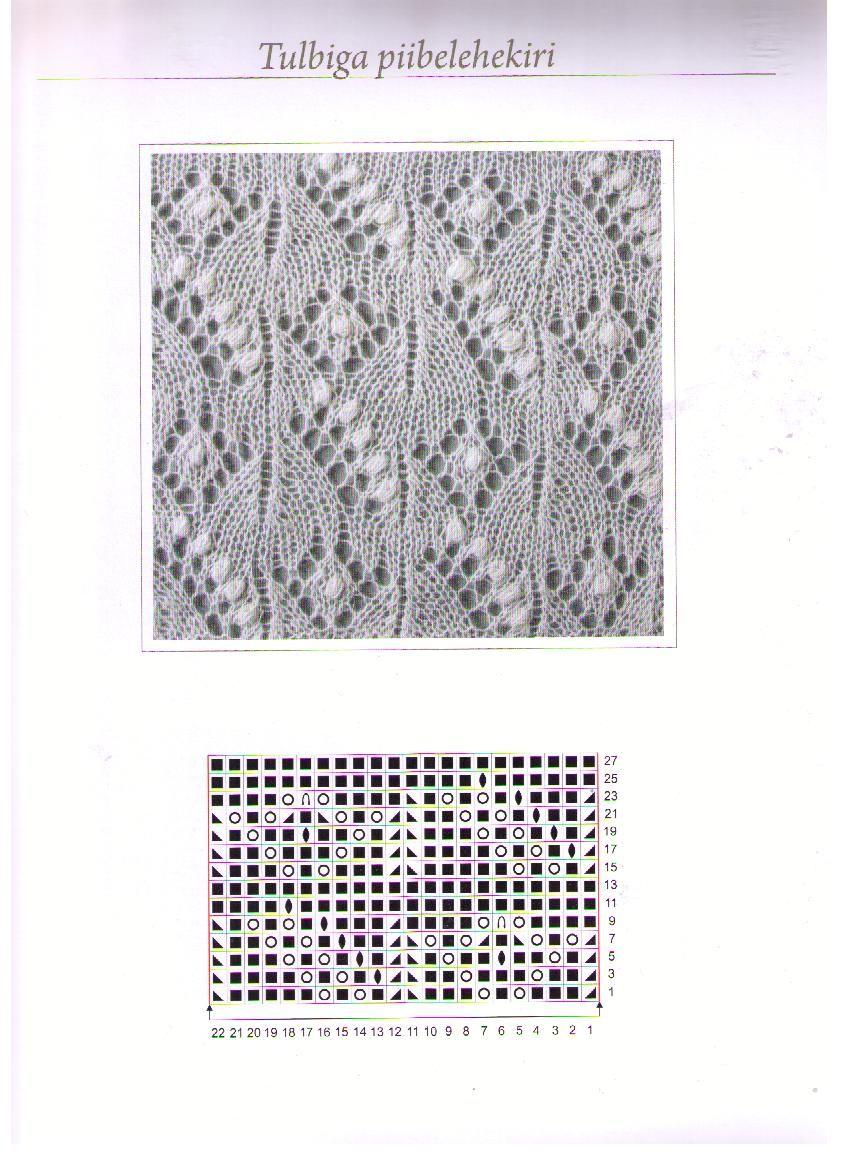 Схема узора для паутинок