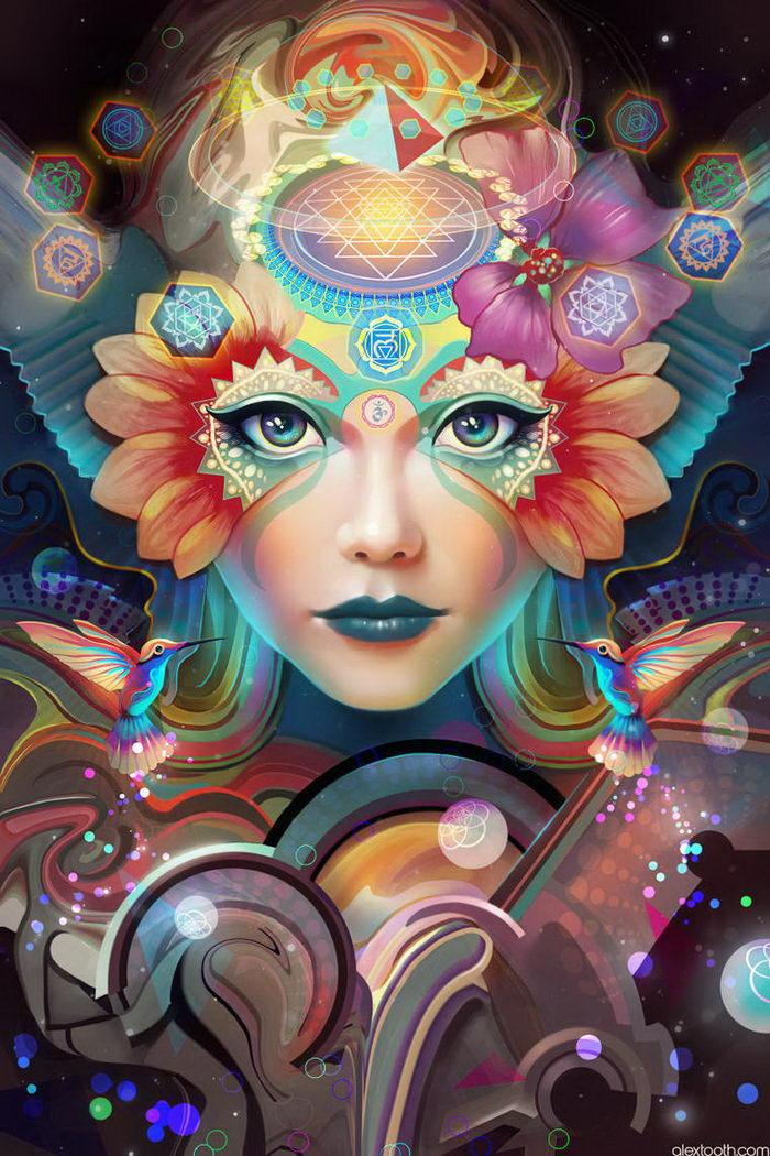 Цветочные иллюстрации Alexander Tooth