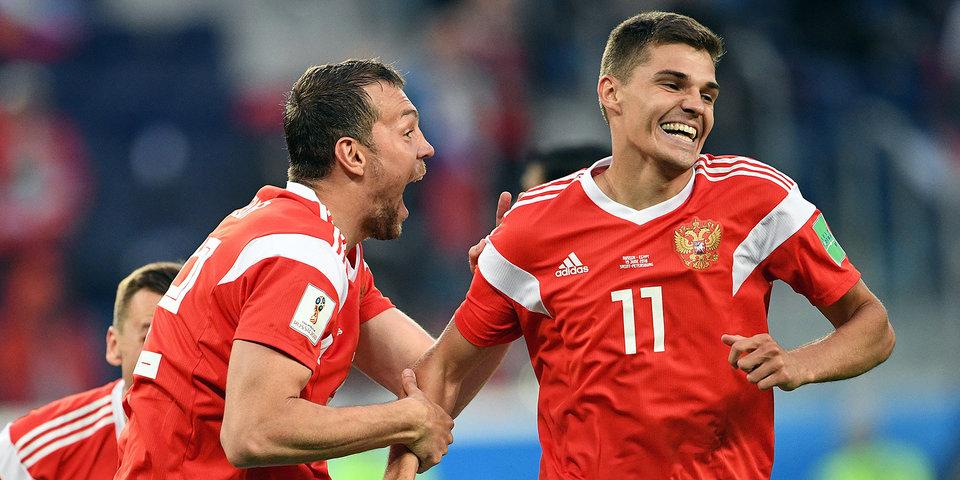 Сборная России победила команду Египта во втором матче на чемпионате мира по футболу