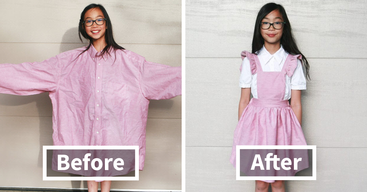 The Way This Mom Turns Old And Ugly Clothes Into Fashionable Outfits For Her Family Will Amaze You