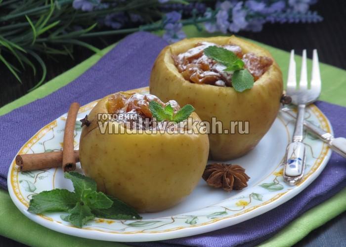 Яблоки с орехами в мультиварке рецепты с фото