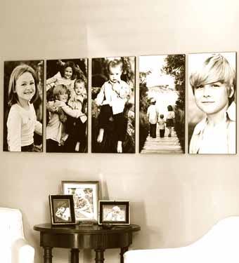 размещаем фотографии на стене комнаты