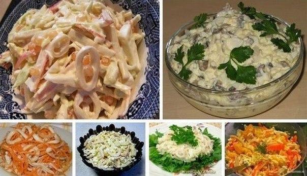 6 простых и вкусных салатов …