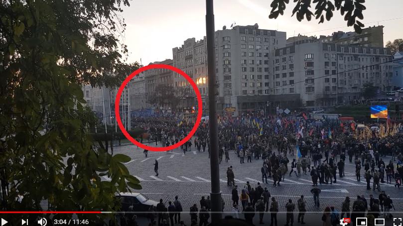 Националисты со всех концов Украины прибыли в Киев на марш УПА