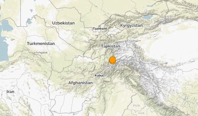 Афганистан. Землетрясение магнитудой 6.3