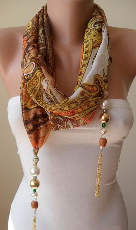 Ожерелье из шарфов и косынок: модно и стильно! Такой женский аксессуар может быть как зимним, так и летним, всё зависит от материала…