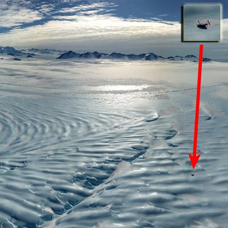 Или так. Чтобы понять величину застывших волн, взгляните на этот снимок антарктида, интересно, пик Винсона, путешествие, скалолазание, фотоотчет